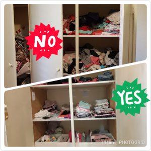 תיוג וסדר בארונות הבגדים - 'יהיה בסדר בצפון!' סידור וארגון הבית והמשרד